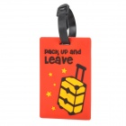 Travel Suitcase Luggage ID Tag - Red + Black