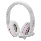 AITA AT-302MV Stereo Headphone w/ Microphone / Volume Control - White + Deep Pink