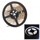 36W 1200lm 7000K 300-3528 SMD LED White Light Car Decoration Lamp Strip - Black + White (5m)
