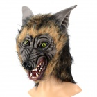 Cool Life-like Wolf Head Style Rubber Latex Mask - Brown + Gray