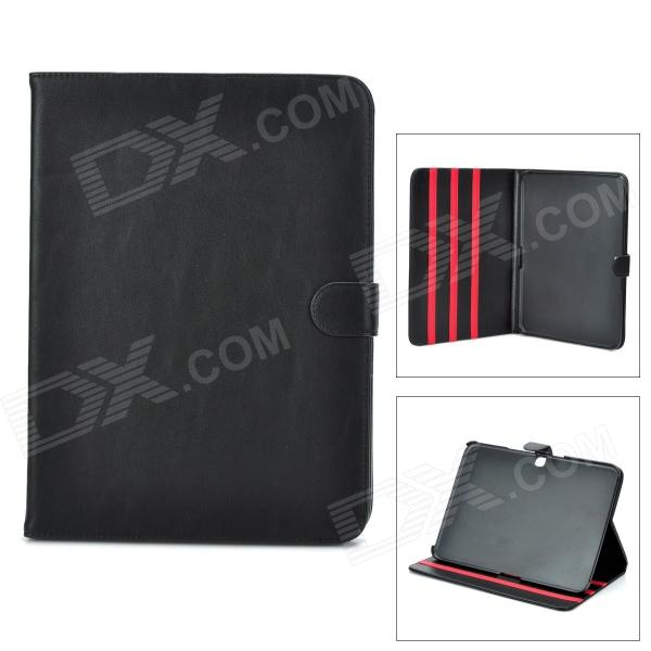 Stylish Flip-open PU Leather Case w/ Holder for Samsung Galaxy Tab3 P5200 - Black floveme luxury flip stand case for samsung galaxy tab3 10 1 p5200 tab3 pu leather protective cover pouch bag black for tab 3