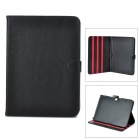 Stylish Flip-open PU Leather Case w/ Holder for Samsung Galaxy Tab3 P5200 - Black
