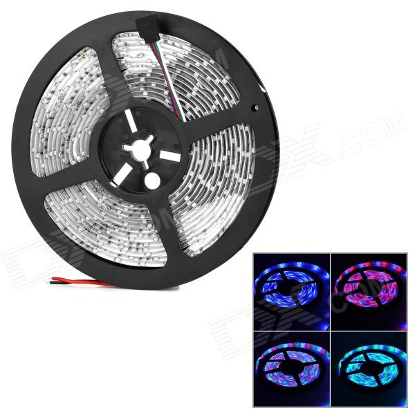 Waterproof 4Pin 36W 1500lm 300-3528 SMD LED RGB Light Car Decoration Lamp Strip - Black + White (5m)