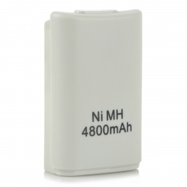 4800mAh Rechargeable Battery for Xbox 360 Wireless Controller - White