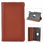 Stylish Flip-open PU Leather Case w/ Holder + 360' Rotating Back for Google Nexus 7 II - Brown