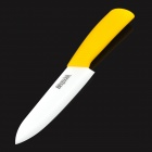 "BESTLEAD 6"" Anti-slip Kitchen Zirconia Ceramic Knife - Yellow + White"