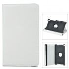 Stylish Flip-open PU Leather Case w/ Holder + 360' Rotating Back for Google Nexus 7 II - White