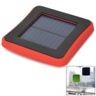 2600mAh Solar Power Mobile Power Quelle w / Saugnapf für iPhone / Samsung + More - Schwarz + Rot