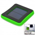 2600mAh Solar Power Mobile Power Quelle w / Saugnapf für iPhone / Samsung + More - Schwarz + Grün