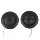 Yiyelang YH-T120 25mm Dome Tweeter Component Speakers for Car Audio System - Black (Pair)