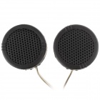 JT-005A High Efficiency Dome Tweeter Component Speakers for Car Audio System - Black (Pair)