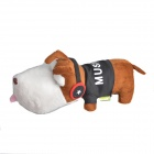 JUWANKE AYA-010 Cute Music Dog Style Bamboo Charcoal Air Purifier Bag Toy - Brown + Black + White