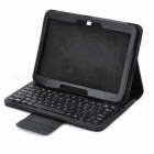 80-Key 3.0 Wireless Keyboard w / PU couro caso Bluetooth para Samsung Tab P5200 3 - Preto