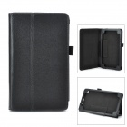Stylish Flip-open Litchi Pattern PU Leather Case w/ Holder for Google Nexus 7 II - Black