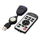 HY-680 IPTV Remote Controller - Black + Silver ( 1x CR2025)