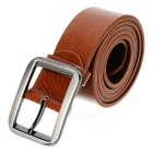 Stylish Men's Cow Split Leather Buckle Belt - Brown