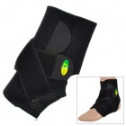 Sports Adjustable Elastic Ankle Support Brace Protector - Black