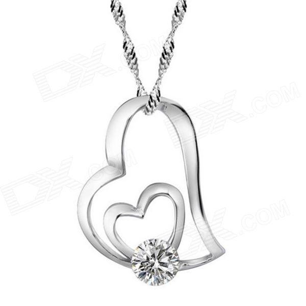 filigree place shaped a tomtosh crystal of recently gear woman long necklace full bfec heart sweater pendant chain my rhinestone gold products silver