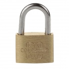 20mm Compact Safety Brass Padlock w/ 2 Keys - Golden