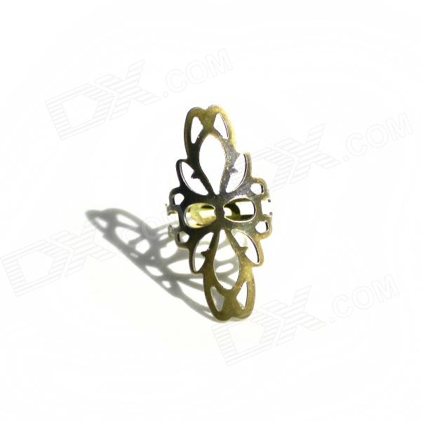 Flower Style Decoration Finger Ring for Women - Bronze