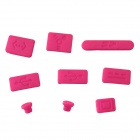 ENKAY Universal Anti-Dust Plugs for MacBook Pro - Deep Pink (9 PCS)