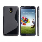 """S"" Style Protective TPU Back Case for Samsung Galaxy Note 3 / N9000 - Grey"