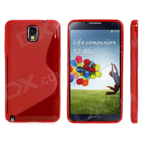 S Style Protective TPU Back Case for Samsung Galaxy Note 3 / N9000 - Red protective aluminum alloy pc back case for samsung galaxy note 3 n9000 more red black