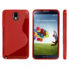 """S"" Style Protective TPU Back Case for Samsung Galaxy Note 3 / N9000 - Red"