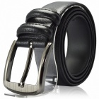 Stylish Leisure Cow Split Leather Buckle Men's Belt - Black
