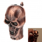 Personality Skull Head Style Blue Flame Butane Gas Lighter - Purple Bronze