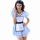 Sexy Maid's Outfit Skirt Set for Halloween - Blue (Size-L)