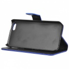Protective PU Leather Case Cover Stand w/ Card Slots for Iphone 5C - Deep Blue