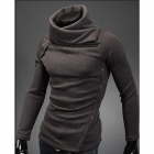 Slim Fit Men's Turtleneck Sweater - Brown (Size-XL)