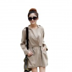 Leisure Women's Loose Coat - Khaki (Free-Size)
