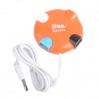 Qanmo High Speed 4-Port USB 2.0 Hub - Orange + White + Blue + Black