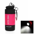 USB Power Rechargeable 1-LED 1-Mode 25lm White Flashlight - Deep Pink + Black