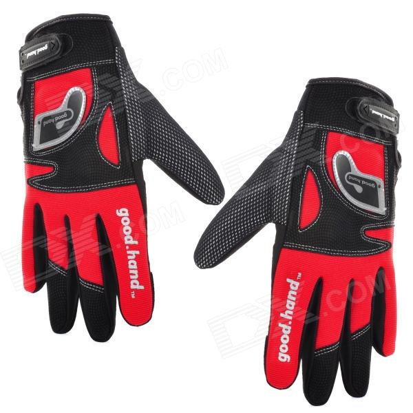Good Hand Full Fingers Cycling Gloves - Black + Red (Pair / Size XL) good hand full fingers cycling gloves black red pair size xl