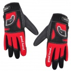 Good Hand Full Fingers Cycling Gloves - Black + Red (Pair / Size XL)