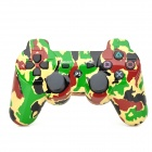 Camouflage Wireless Bluetooth V4.0 Game Joystick Controller for PS3 / PS3 Slim - Green + Black