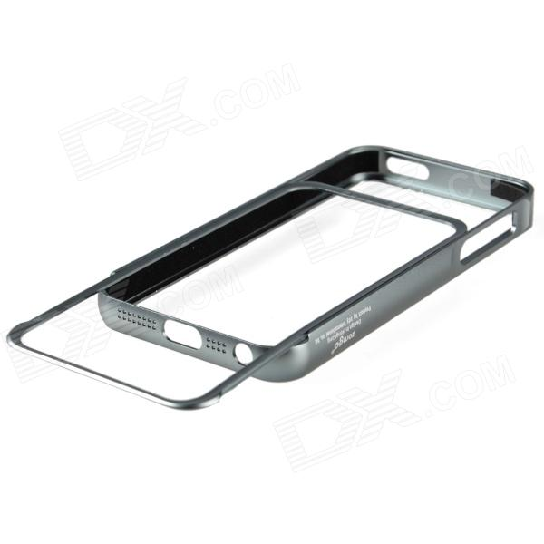 Zomgo Pull-out Protective Aluminum Alloy Bumper Frame for Iphone 5 - Grey zomgo stylish protective aluminum alloy silicone bumper frame for iphone 5 5s black white