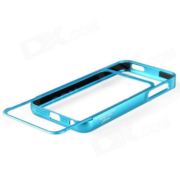 Zomgo Pull-out Protective Aluminum Alloy Bumper Frame for Iphone 5 - Blue zomgo stylish protective aluminum alloy silicone bumper frame for iphone 5 5s black white
