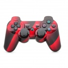 Oil Spraying Surface Dual-Shock 6-Axis Bluetooth V4.0 Controller for PS3 / PS3 Slim - Red + Black