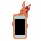 Cute Cartoon Rabbit Style Protective Silicone Back Case for Iphone 4 / 4S - Orange
