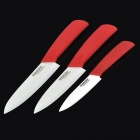 "RIMON T456R 4"" 5"" 6"" Kitchen Zirconia Ceramic Knives Set - Red + White (3 PCS)"