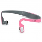Outdoor Sports Behind the Neck Bluetooth V3.0+EDR Headphones - Pink + Deep Grey