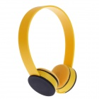 K20 Fashionable Stereo Headset for Ipod / Iphone / Ipad - Yellow + Black (3.5mm Plug / 111cm-Cable)