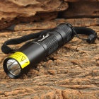 TANK007 566UV 1W 395nm 1-LED Flashlight - Black (1 x AA)