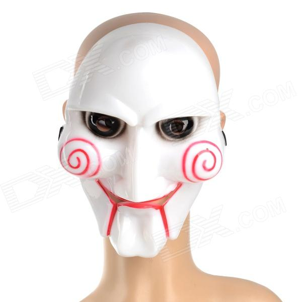 Eccentric Scary PVC Cast Mask for Costume / Halloween Party - White