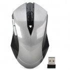 651516Q Stylish Wireless 2.4GHz 1200dpi Optical Mouse - Grey + Black (2 x AAA)