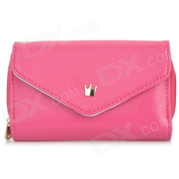 SJ1-Y Stylish PU Leather Cellphone Handbag - Deep Pink